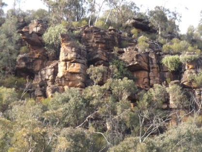 Impressive rock formation - Eualdrie Lookout Hike